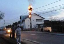 Un incendiu i-a lăsat fără semnal TV şi de Internet