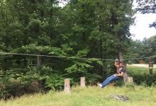 Tiroliană la zona de picnic de la Făget